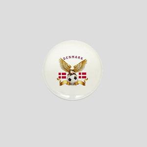 Denmark Football Design Mini Button
