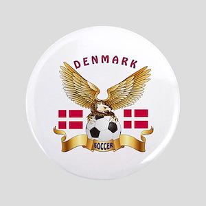 """Denmark Football Design 3.5"""" Button"""