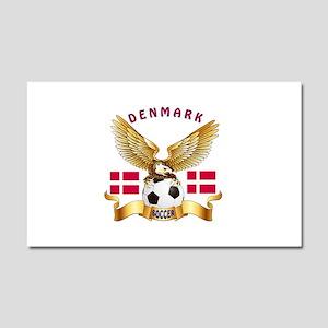 Denmark Football Design Car Magnet 20 x 12