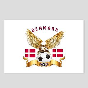 Denmark Football Design Postcards (Package of 8)