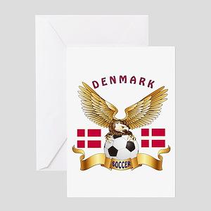 Denmark Football Design Greeting Card