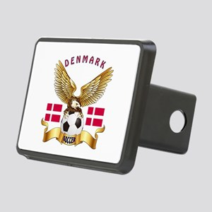Denmark Football Design Rectangular Hitch Cover