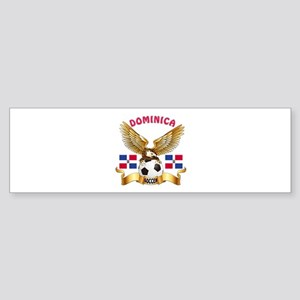 Dominica Republic Football Design Sticker (Bumper)