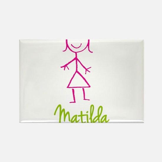 Matilda-cute-stick-girl.png Rectangle Magnet