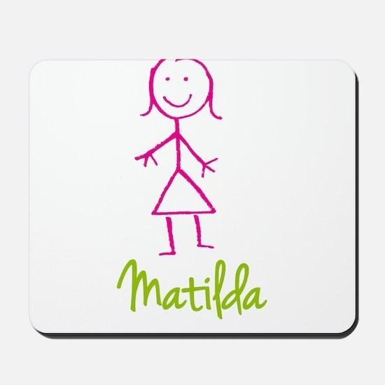 Matilda-cute-stick-girl.png Mousepad