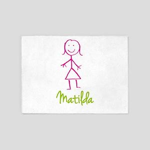 Matilda-cute-stick-girl 5'x7'Area Rug