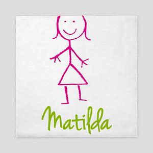Matilda-cute-stick-girl Queen Duvet