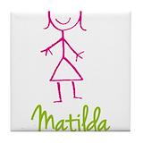 Matilda Tile Coasters