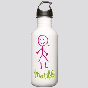 Matilda-cute-stick-girl.png Stainless Water Bottle