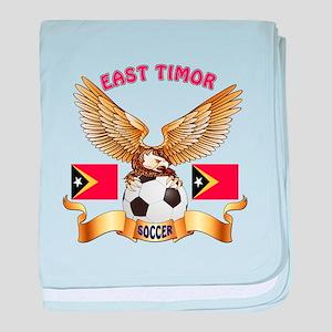 East Timor Football Design baby blanket