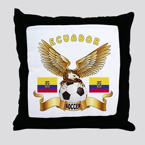 Ecuador Football Design Throw Pillow