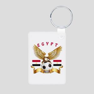 Egypt Football Design Aluminum Photo Keychain
