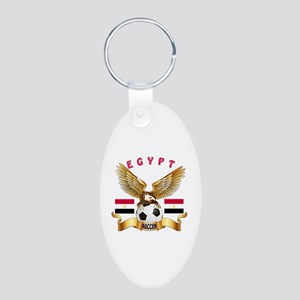 Egypt Football Design Aluminum Oval Keychain