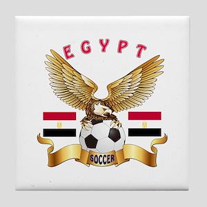 Egypt Football Design Tile Coaster