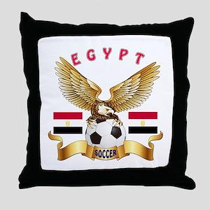 Egypt Football Design Throw Pillow
