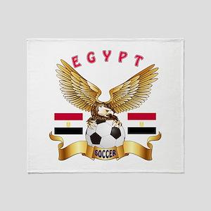 Egypt Football Design Throw Blanket