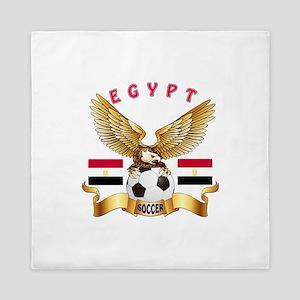 Egypt Football Design Queen Duvet
