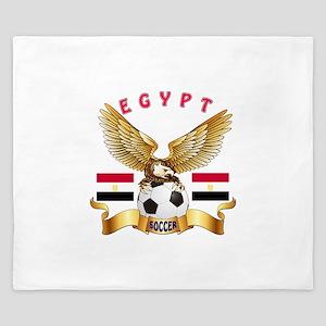 Egypt Football Design King Duvet