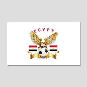 Egypt Football Design Car Magnet 20 x 12