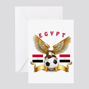 Egypt Football Design Greeting Card