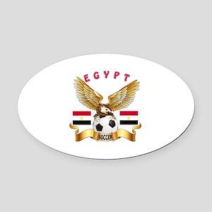 Egypt Football Design Oval Car Magnet