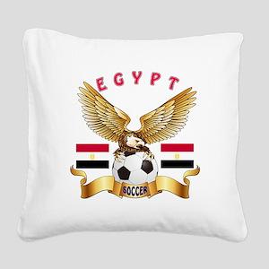 Egypt Football Design Square Canvas Pillow