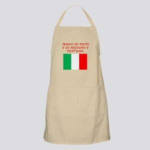 Italian Proverb Friend To All Apron