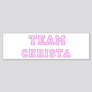 Pink team Christa Bumper Sticker