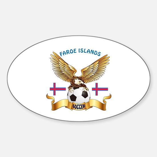 Faroe Islands Football Design Sticker (Oval)