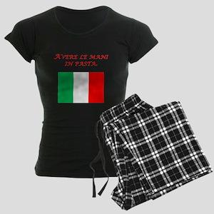 Italian Proverb Finger In The Pie Women's Dark Paj