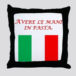 Italian Proverb Finger In The Pie Throw Pillow