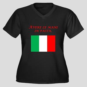 Italian Proverb Finger In The Pie Women's Plus Siz