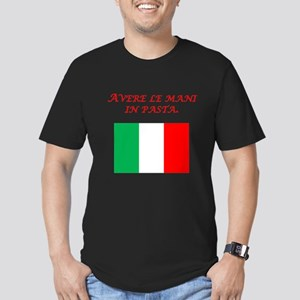 Italian Proverb Finger In The Pie Men's Fitted T-S