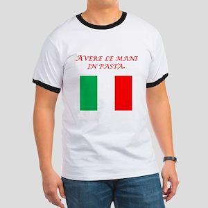 Italian Proverb Finger In The Pie Ringer T