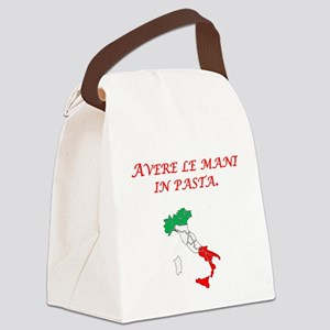 Italian Proverb Finger In The Pie Canvas Lunch Bag