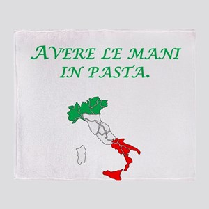 Italian Proverb Finger In The Pie Throw Blanket