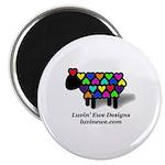 "Luvin ewe logo 2.25"" Magnet (100 pack)"