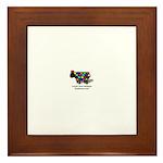 Luvin ewe logo Framed Tile