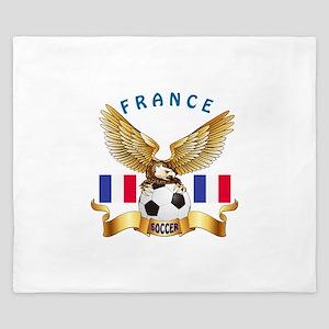 France Football Design King Duvet