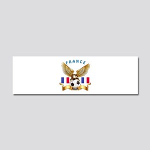 France Football Design Car Magnet 10 x 3