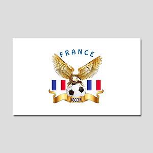 France Football Design Car Magnet 20 x 12