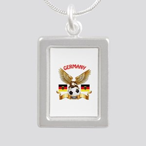 Germany Football Design Silver Portrait Necklace