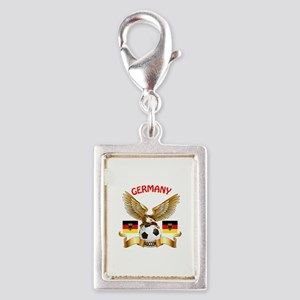 Germany Football Design Silver Portrait Charm