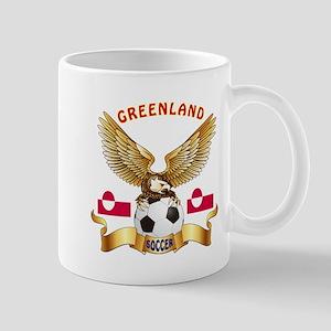 Greenland Football Design Mug