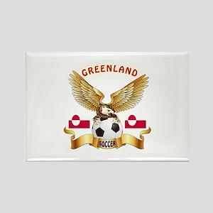 Greenland Football Design Rectangle Magnet