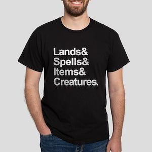 Lands, Spells, Items, Creatures, Dark T-Shirt