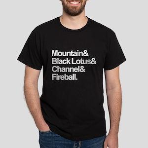 Mountain, Black Lotus, Channel, Fireball. Dark T-S