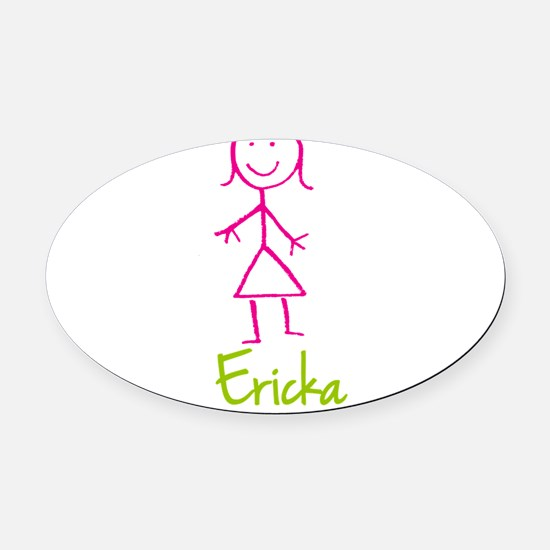 Ericka-cute-stick-girl.png Oval Car Magnet