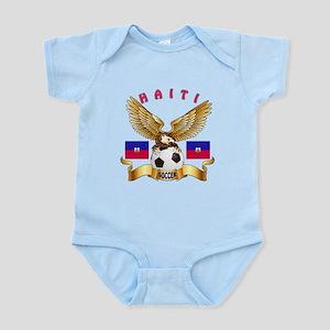 Haiti Football Design Infant Bodysuit