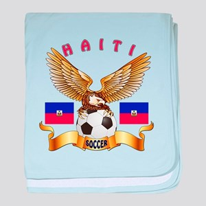 Haiti Football Design baby blanket